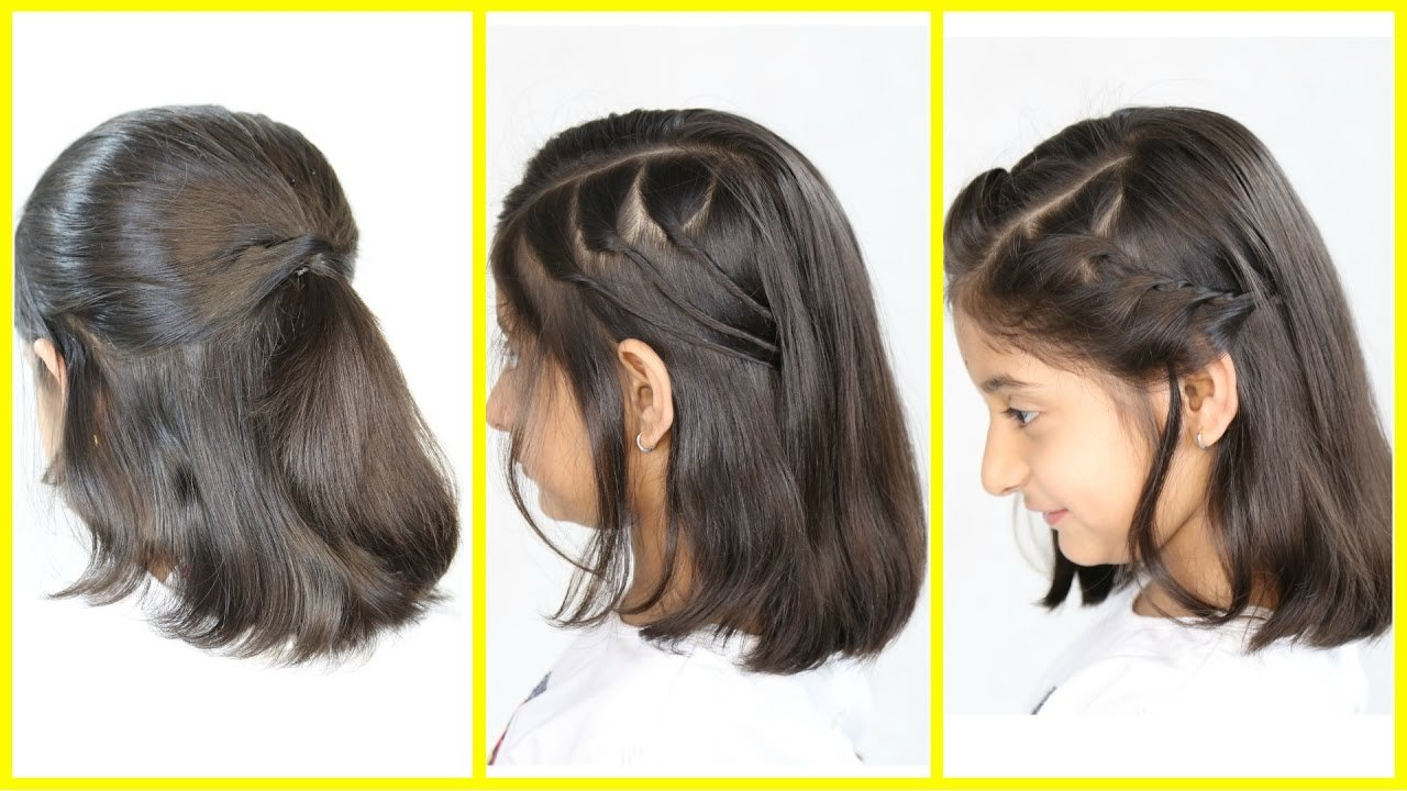 New 3 Simple Cute Hairstyles New For Short Medium Hair Mymissanand Youtube Ideas With Pictures