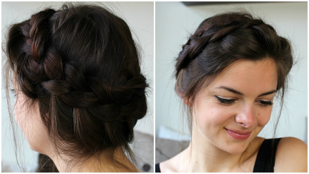 New Messy Crown Braid Youtube Ideas With Pictures
