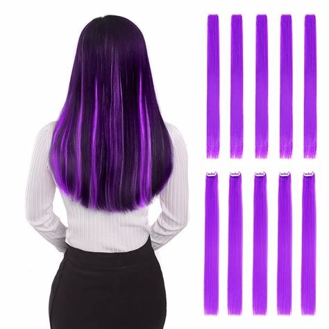 New Amazon Com Hawkko 20Pcs Straight Colored Clip In Hair Ideas With Pictures