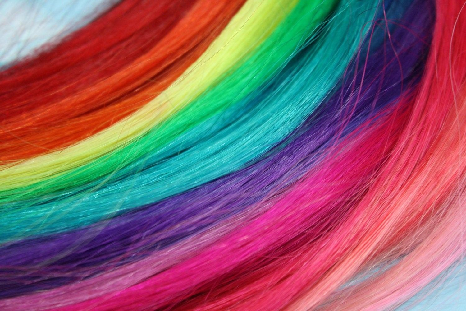 New Rainbow Colored Human Hair Extensions Colored Hair Extension Ideas With Pictures