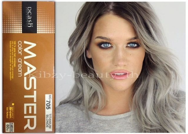 New Master Dcash Silver Titanium Blonde Permanent Hair Color Mg705 Ebay Ideas With Pictures
