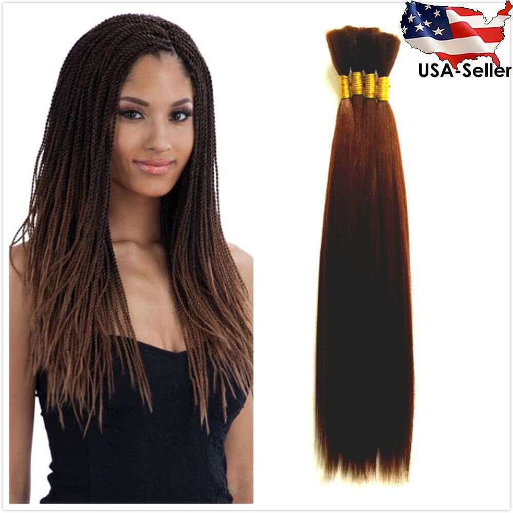 New Straight Yaki Bulk Braiding Hair Extension 7 Colors Ideas With Pictures