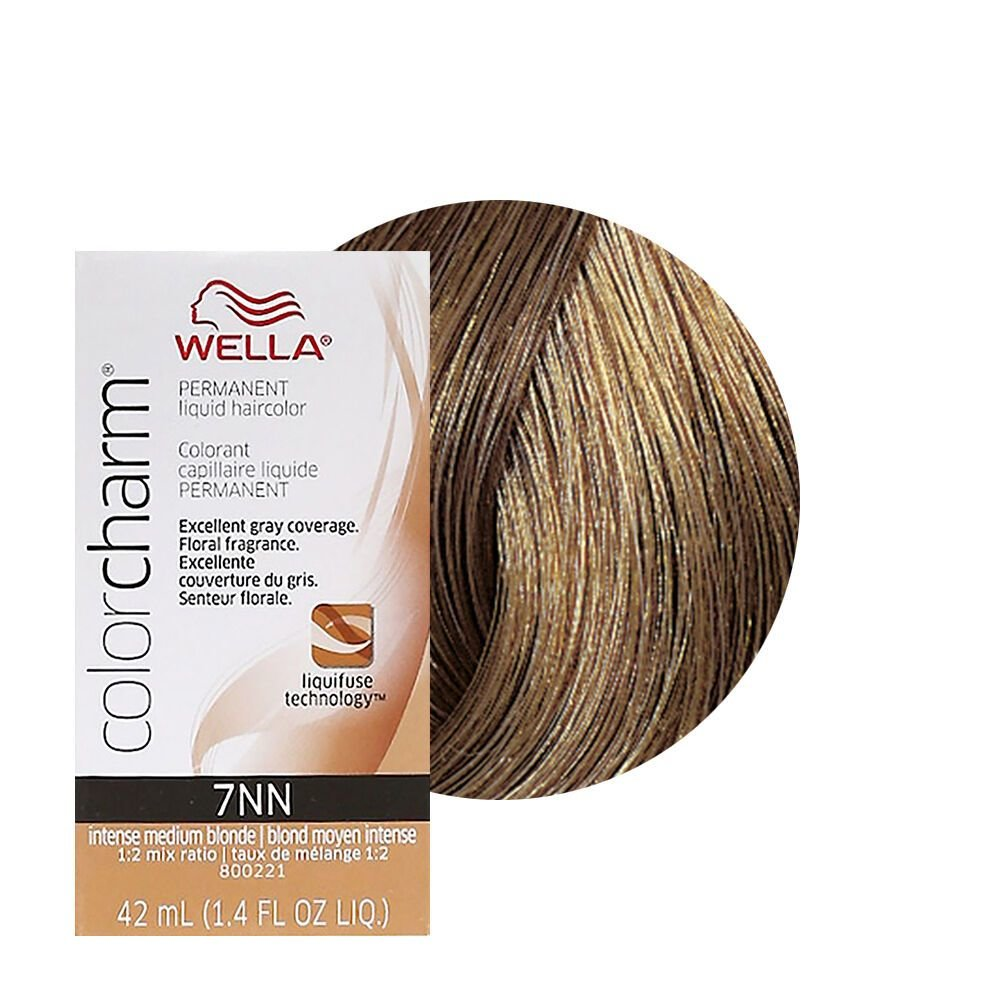 New Wella Color Charm Permament Liquid Hair Color 42Ml Intense Medium Blonde 7Nn 381519064586 Ebay Ideas With Pictures