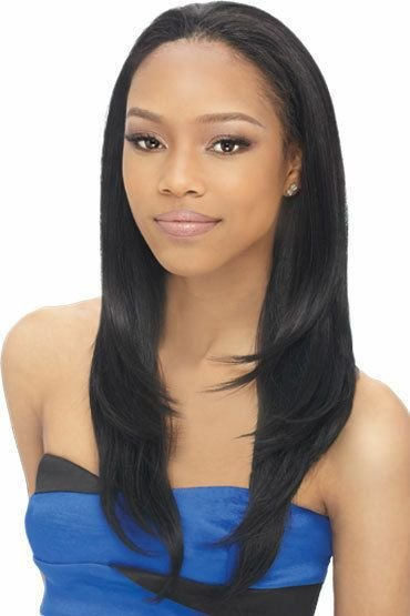 New Livia Outre Quick Weave Synthetic Half Wig Long Straight Ideas With Pictures