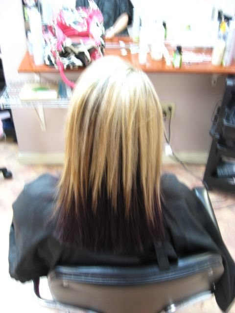 New Blonde And Dark Purple Underneath Our Very Own Salon Ideas With Pictures