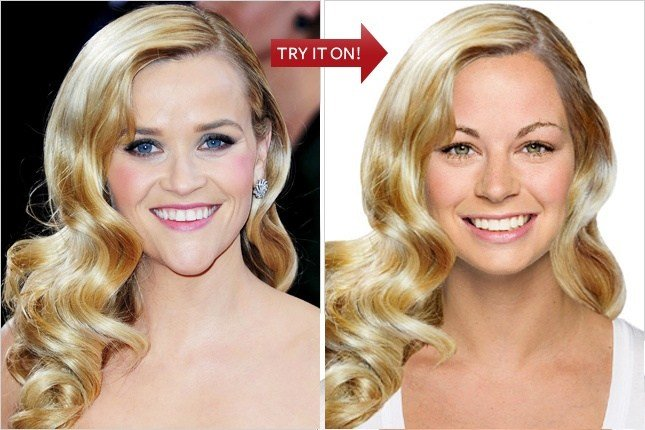 New Hollywood Hair Virtual Makeover Try On Celebrity Ideas With Pictures