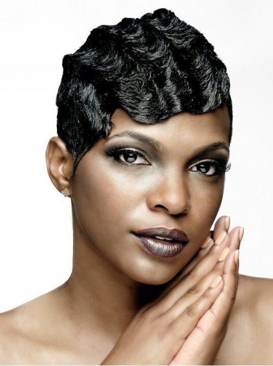 New Finger Waves Hair Relaxed Weaved Wigs Black African Ideas With Pictures