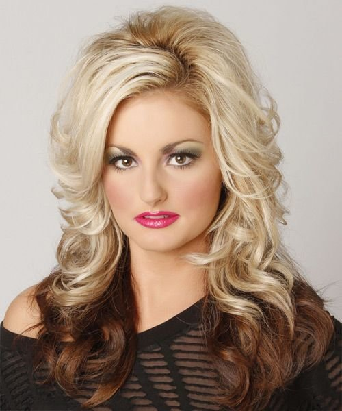 New Two Tone Hairstyle Medium Length Formal Long Wavy Ideas With Pictures