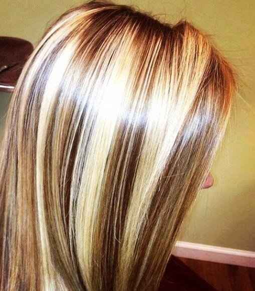 New Chunky Chocolate Lowlites And Blonde Highlights Hair Ideas With Pictures