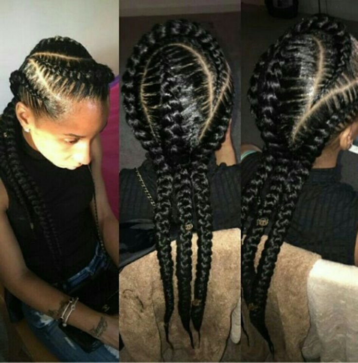 New 3 Feed In Cornrows I Like Natural Styles That I D Ideas With Pictures