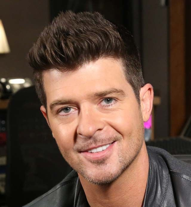 New Robin Thicke S Straight Up Hairstyle 2014 Hair Trends Ideas With Pictures