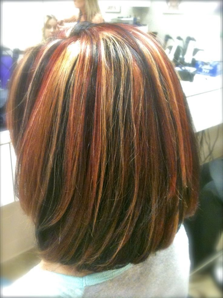 New Tri Color Highlights On Shoulder Length Hair Stylist Ideas With Pictures
