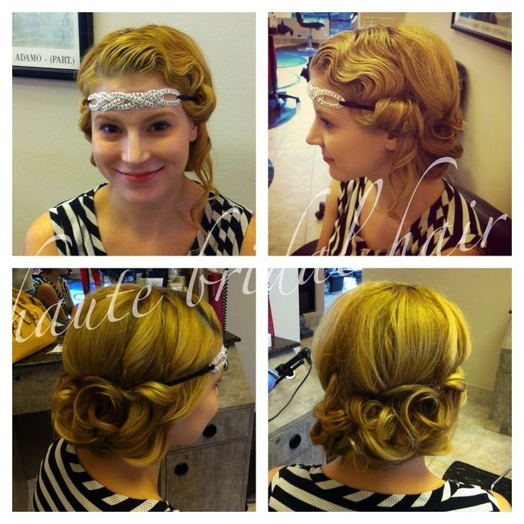 New Updo 1920 S Retro Vintage Hair Styles Fingerwaves White Pineapple Bride Styles By Me Ideas With Pictures