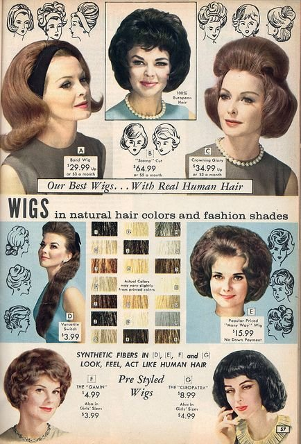 New Popular Wig Styles From The Nbh Catalog 1964 Vintage Ideas With Pictures