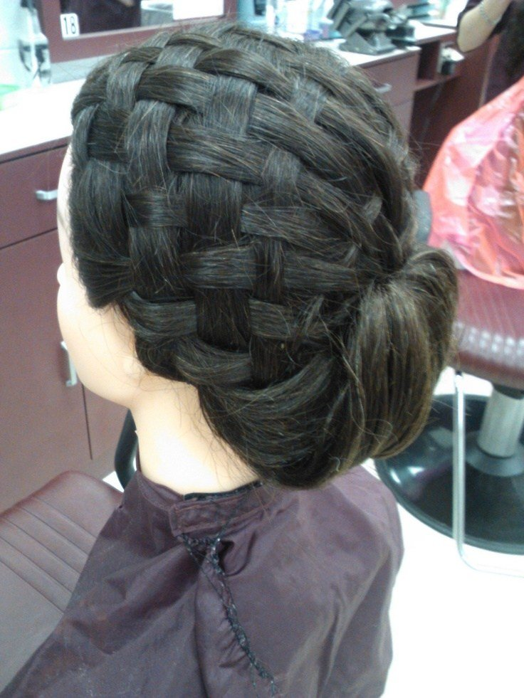 New Basket Weave Updo Done In Cosmetology Class Hair Design Pinterest Cosmetology And Updo Ideas With Pictures
