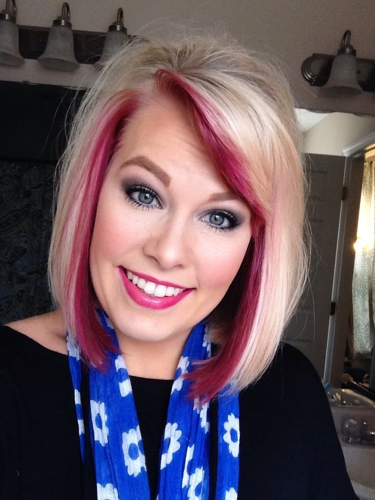 New Hair Pravana Colorful Peekaboo Blonde Wild Orchid Ideas With Pictures