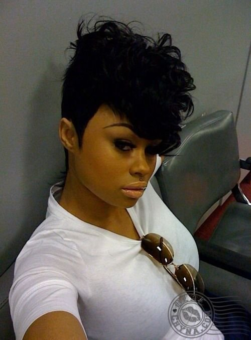 New Black Chyna Mohawk 27 Piece Curly Hair Howtoblackhair Com Ideas With Pictures