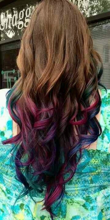 New Magenta People And Indigo Dyed Hair Tips My Buckets 2 Ideas With Pictures