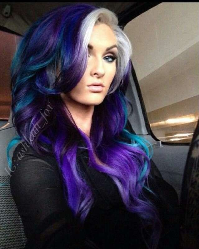 New ☆Galaxy Hair ☆ Beauty Trusper Tip Purple Hair Ideas With Pictures