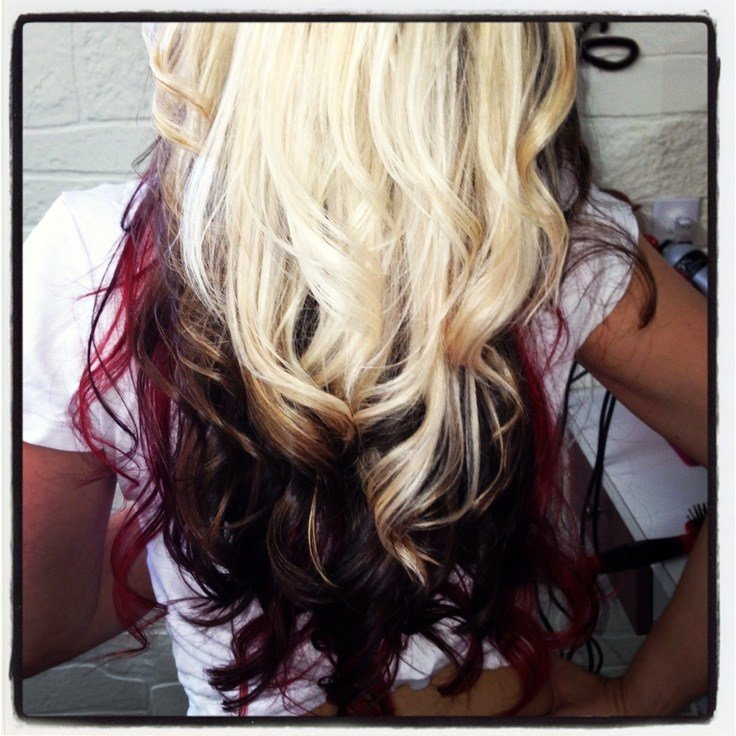 New Tri Color Paneling Hair By Jehnyfer Salon 8 Hair Ideas With Pictures
