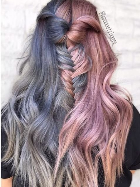 New Best 25 Two Color Hair Ideas On Pinterest Two Toned Hair Blue Hair Colour And Crazy Colour Ideas With Pictures