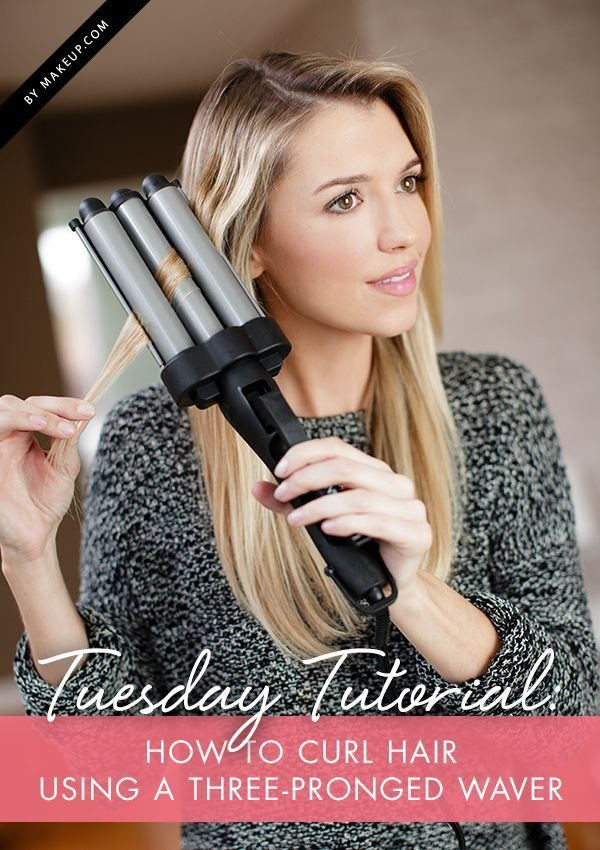 New Tuesday Tutorial How To Curl Hair Using A Three Pronged Ideas With Pictures