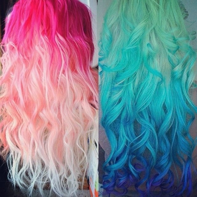 New Pastel And Bright Hair Colors Inspirations From Beauties Ideas With Pictures