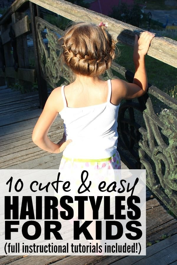 New 10 Cute And Easy Hairstyles For Kids Easy Hairstyles Ideas With Pictures