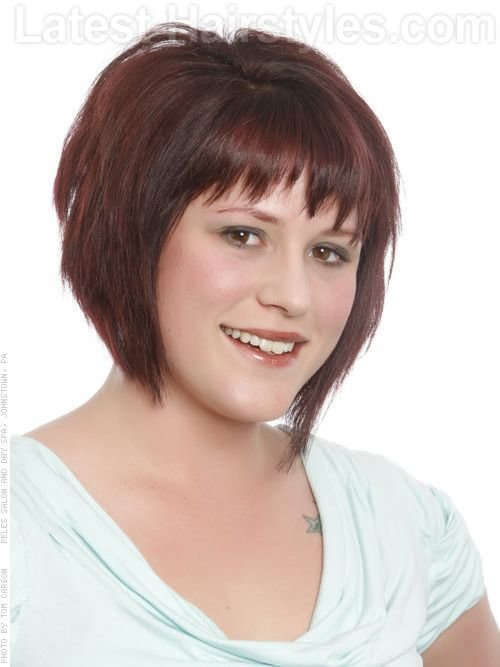 New Hairstyles For Fat Faces Womens More Edgy Bob Latest Ideas With Pictures