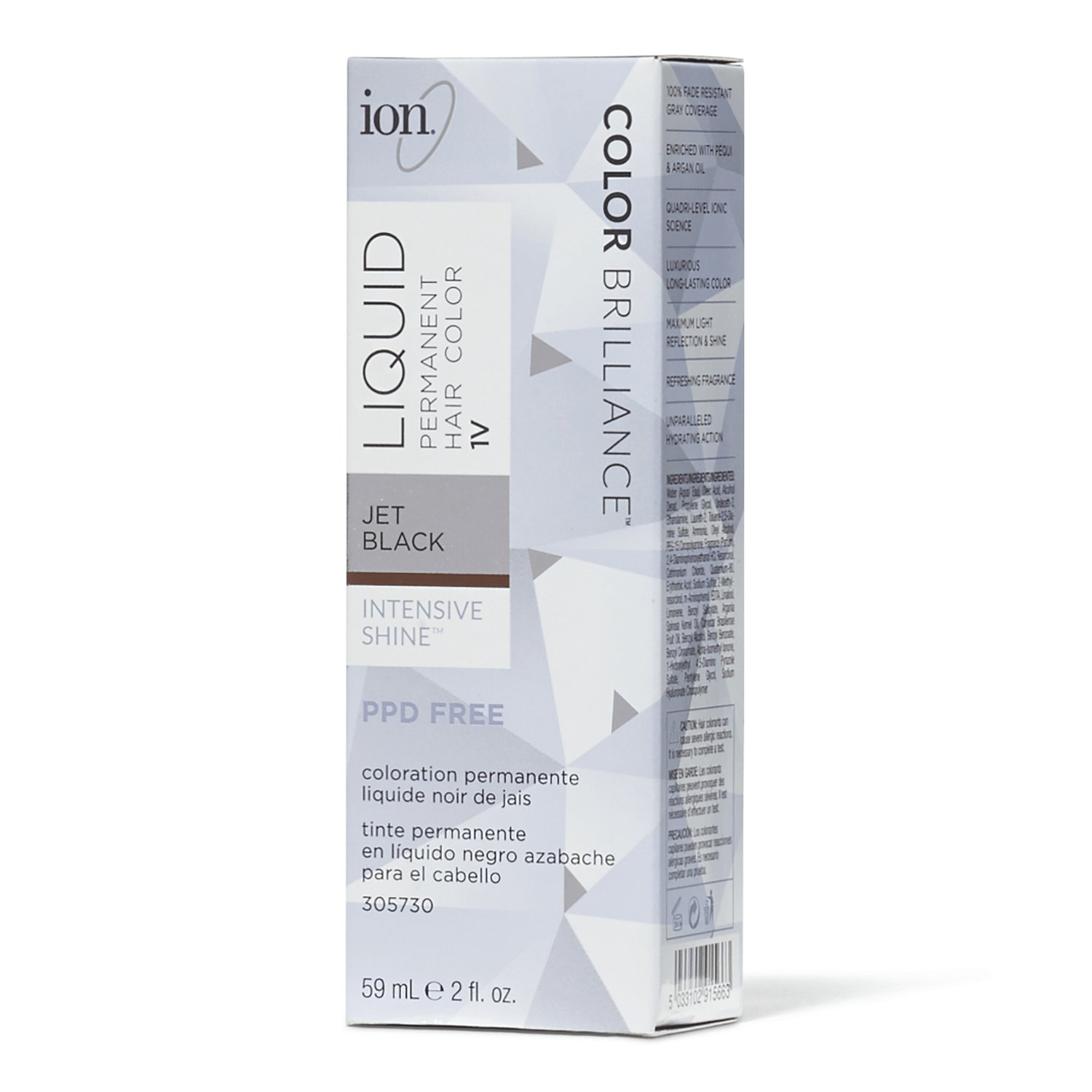 New Ion 1V Jet Black Permanent Liquid Hair Color By Color Ideas With Pictures