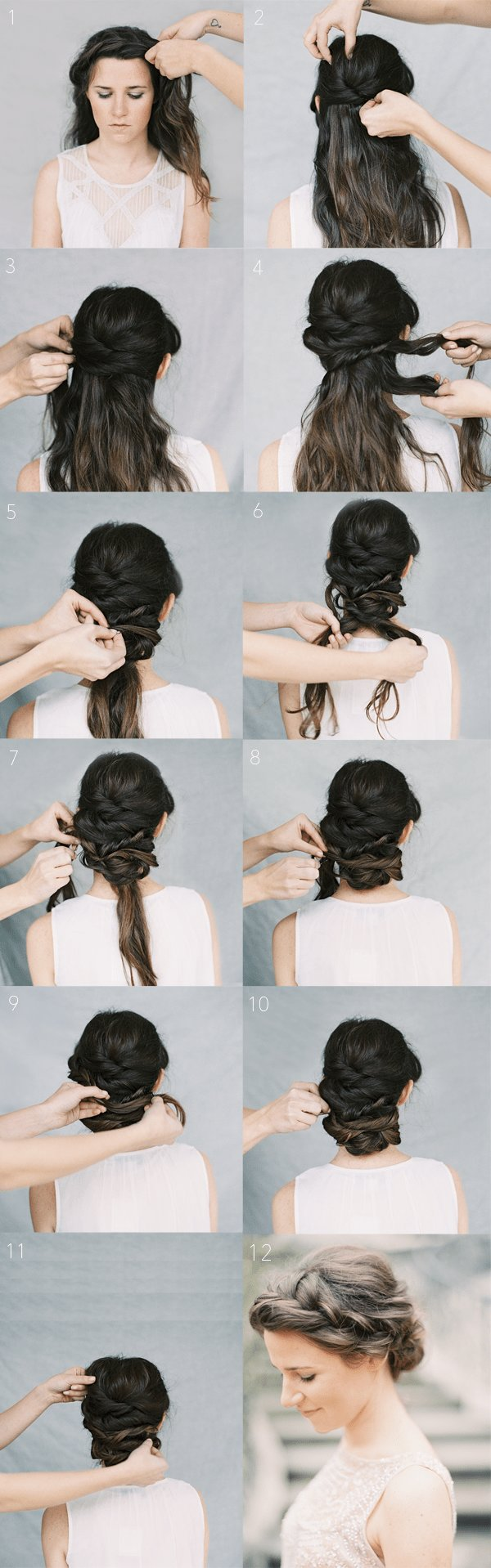 New Crown Braid Chignon Tutorial Once Wed Ideas With Pictures