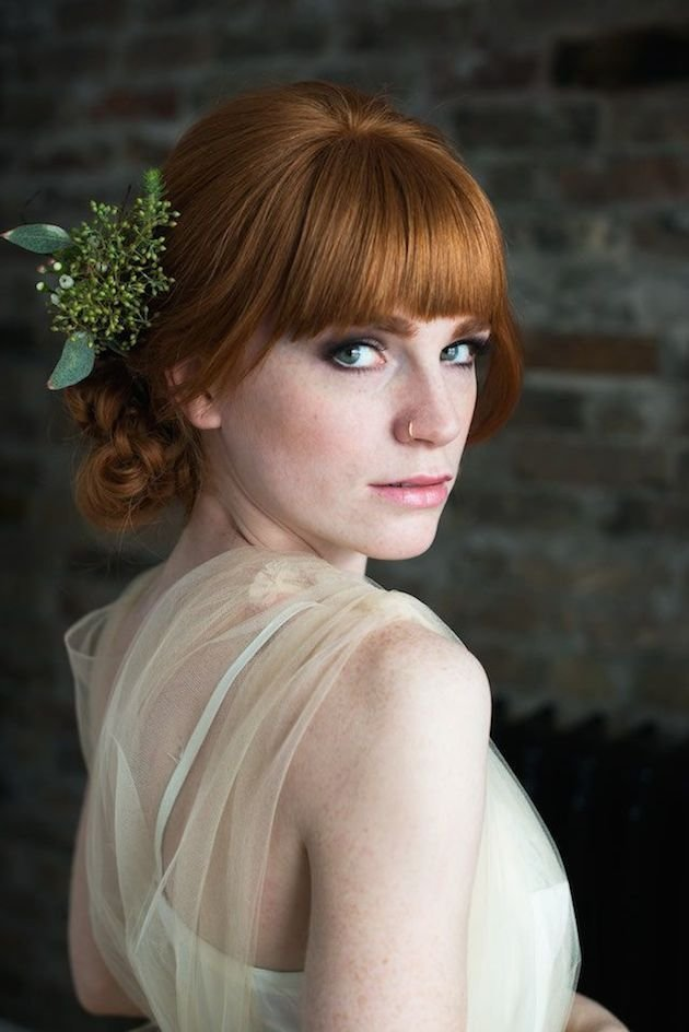 New 15 Gorgeous Bridal Hair With Bangs Pretty Designs Ideas With Pictures