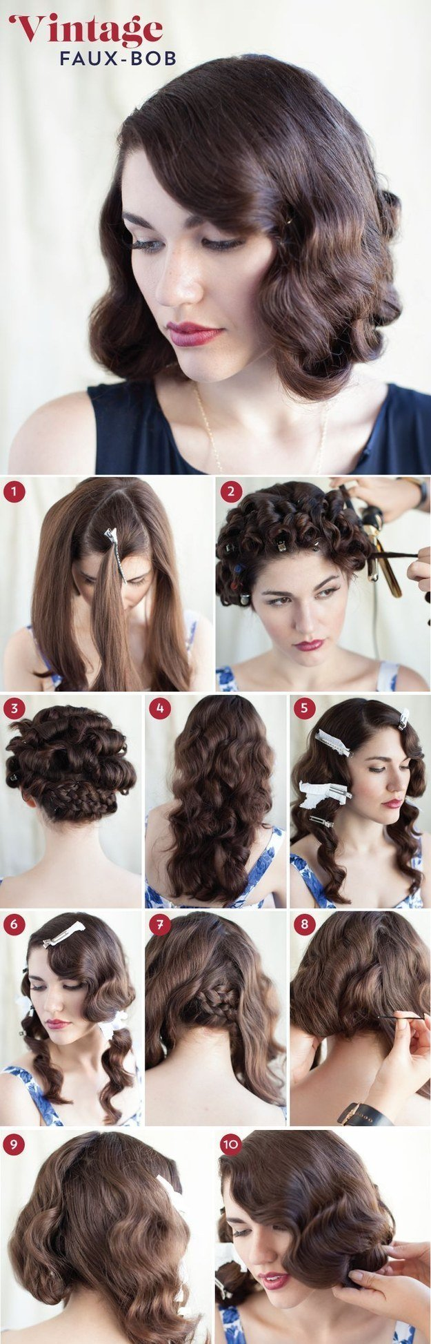 New 30 Diy Vintage Hairstyle Tutorials For Short Medium Long Ideas With Pictures