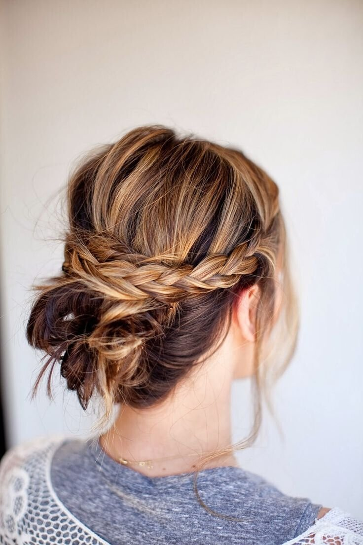 New 20 Easy Updo Hairstyles For Medium Hair Pretty Designs Ideas With Pictures