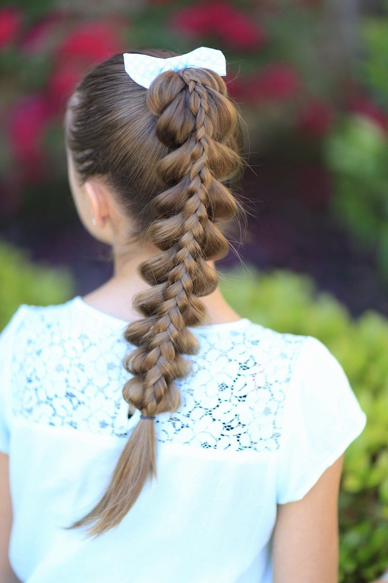 New Stacked Pull Through Braid Cute Girls Hairstyles Ideas With Pictures