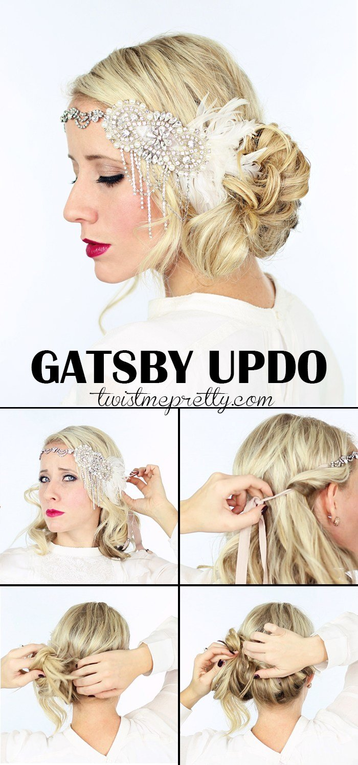 New 2 Gorgeous Gatsby Hairstyles For Halloween Or A Wedding Ideas With Pictures