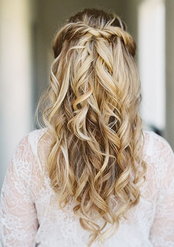 New Simple Half Up Half Down Wdding Hairstyle Idea Via Lane Ideas With Pictures