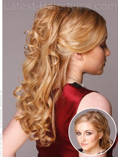 New Half Up Half Down Prom Hairstyles Pictures And How To S Ideas With Pictures