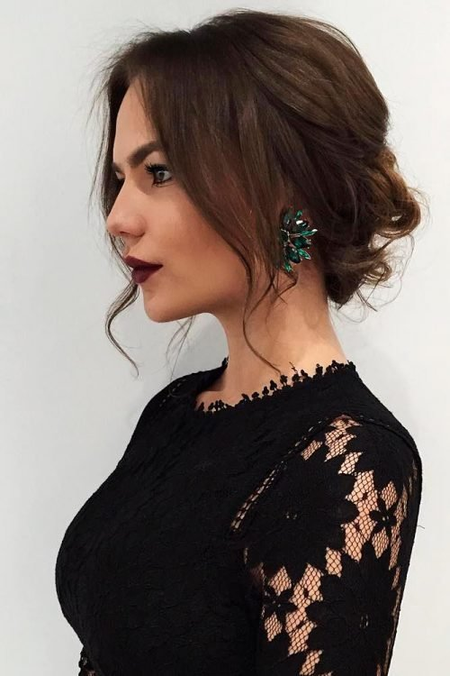 New 25 Most Beautiful Updos For Medium Length Hair New For 2018 Ideas With Pictures
