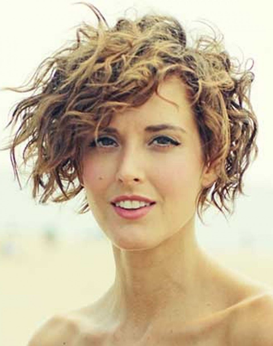 New Curly Hairstyle Down Asymmetrical Short Curly Hair Styles Ideas With Pictures