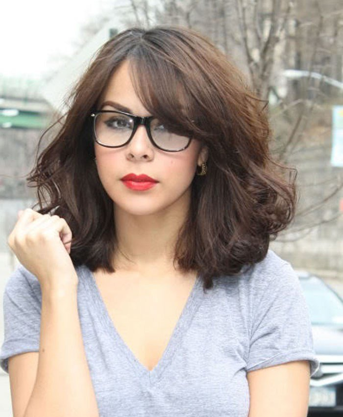 New Top 30 Hairstyles With Bangs And Glasses The Perfect Ideas With Pictures Original 1024 x 768