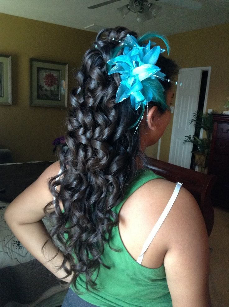 New Cute Curly Hairstyles For Quinceaneras Hairstyles By Ideas With Pictures