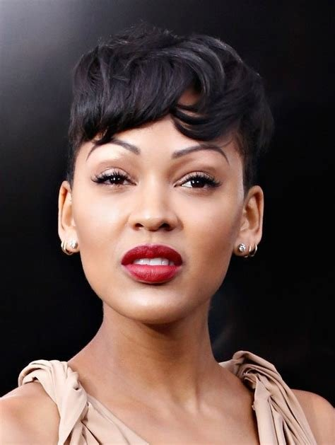 New Meagan Good Short Boyish Haircut With Messy Bangs Styles Ideas With Pictures