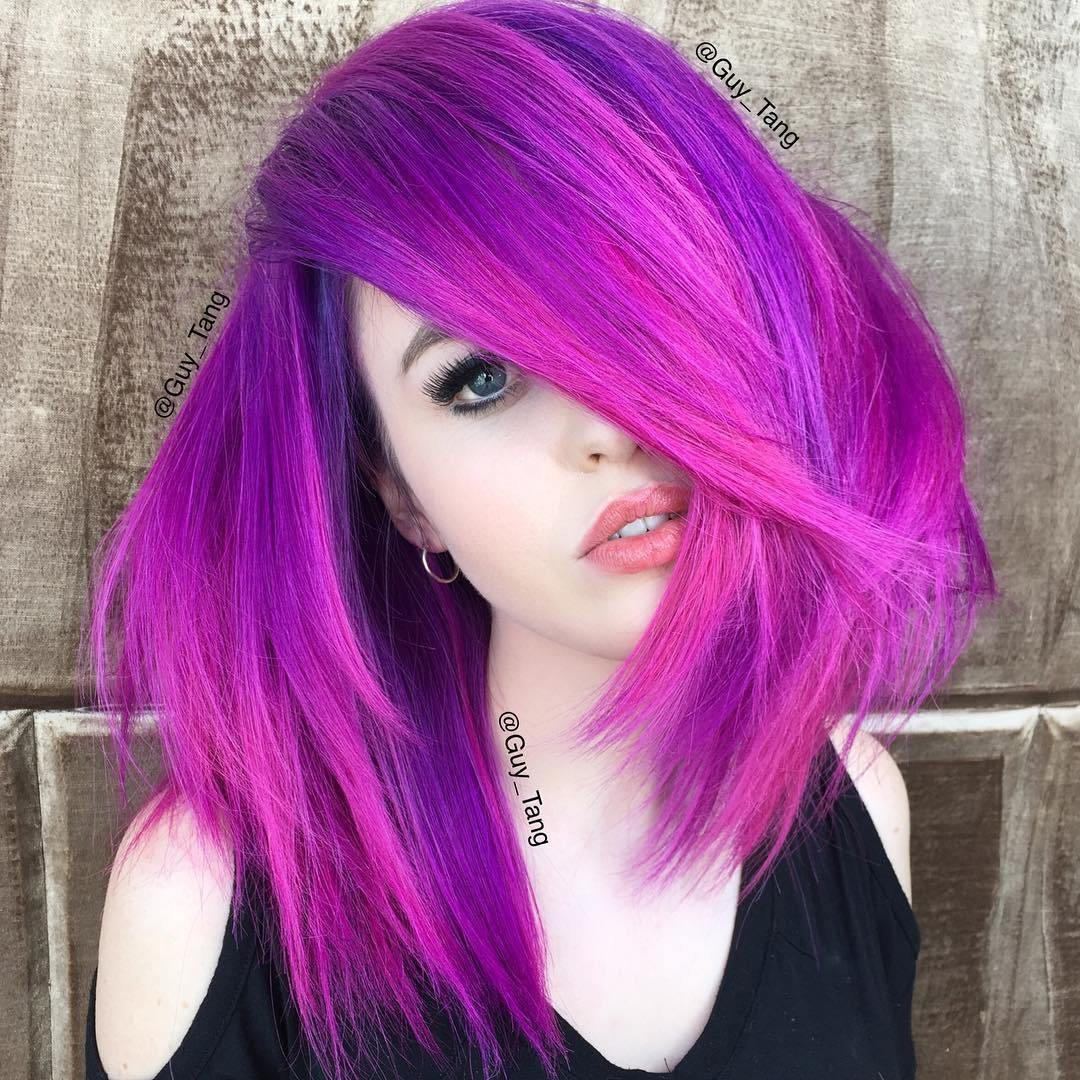 New 40 Versatile Ideas Of Purple Highlights For Blonde Brown Ideas With Pictures