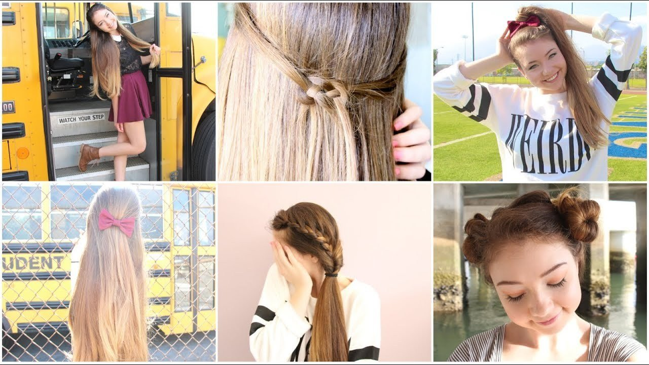 New 5 Quick N Easy Back To School Heatless Hairstyles Youtube Ideas With Pictures