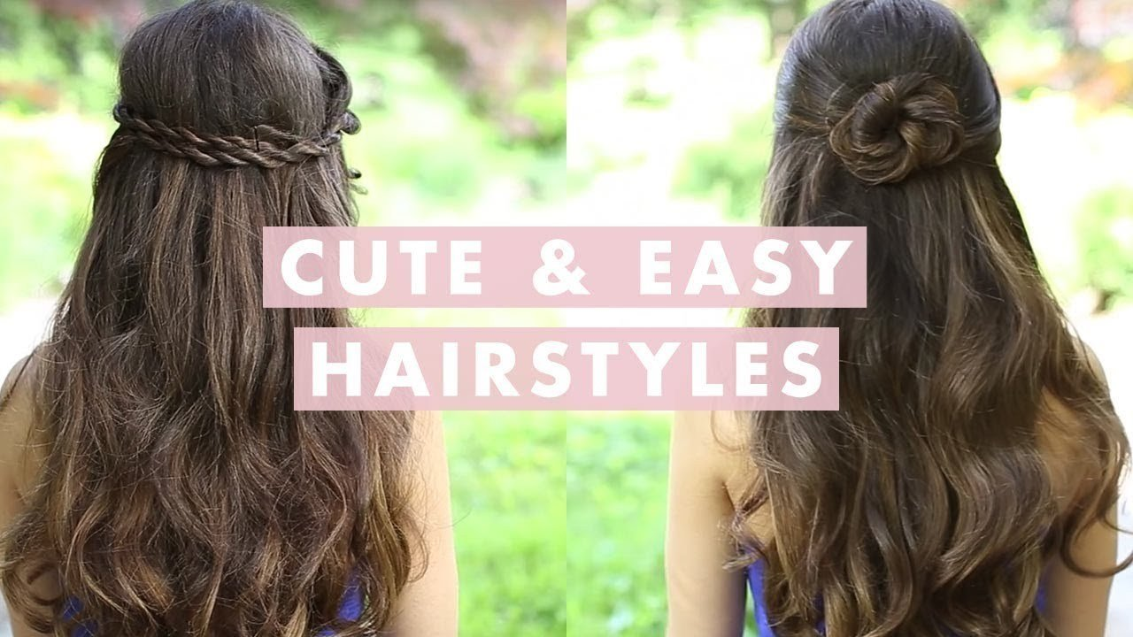 New Cute And Easy Hairstyles Youtube Ideas With Pictures