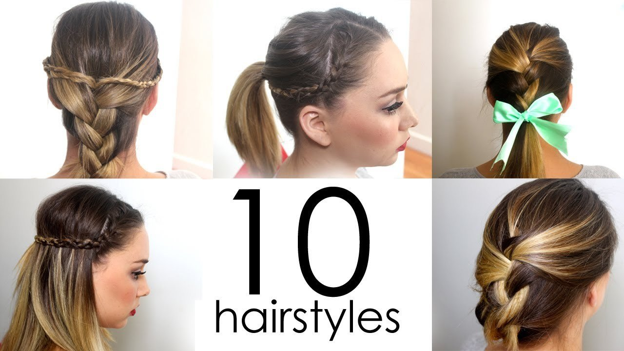 New 10 Quick Easy Everyday Hairstyles In 5 Minutes Youtube Ideas With Pictures