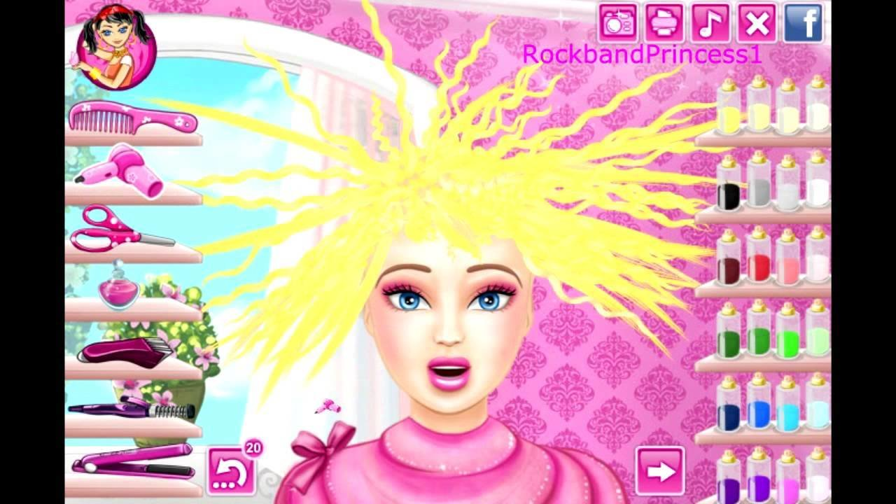 New Barbie Hair Cutting Game Barbie Makeover Game Youtube Ideas With Pictures Original 1024 x 768