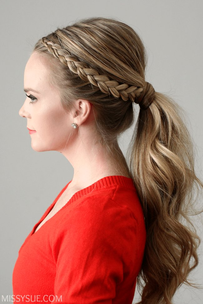New Dutch Lace Braid Ponytail Ideas With Pictures