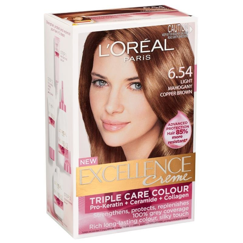 New L Oreal Excellence Creme 6 54 Light Mahogany Copper Ideas With Pictures